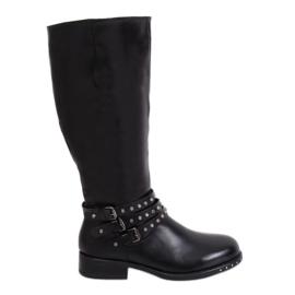 Ženske crne čizme sa štiklama crna Y208 Crna II kvaliteta