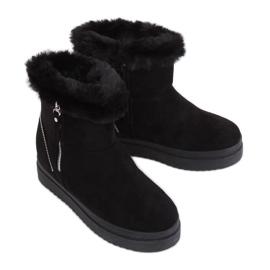 Crne snježne čizme na krznu PP-30 crne crna