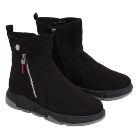 Crne čizme u sportskom stilu crne SJ1938 crne crna
