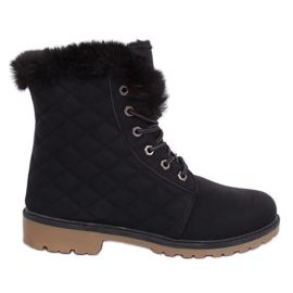 Crne prekrivene čizme od drveta Z140 Crne crna