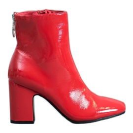 Seastar Lakirane čizme za gležnjeve crvena