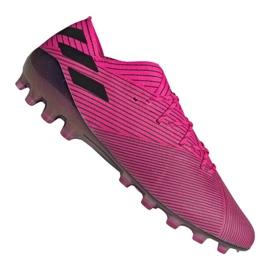 Nogometne cipele Adidas Nemeziz 19.1 Ag Fg M FU7033 roze roze