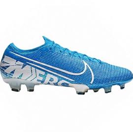 Nogometne cipele Nike Mercurial Vapor 13 Elite Fg M AQ4176 414 bijelo, plavo plava
