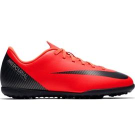 Nike Mercurial Vapor X 12 Club Gs CR7 Tf Jr AJ3106 600 nogometnih cipela crvena