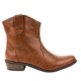 Smeđe čizme na kaubojskim čizmama 928-1