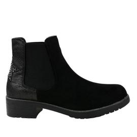 Crne suknje ravne čizme sa zvijezdom SHN2221 crna