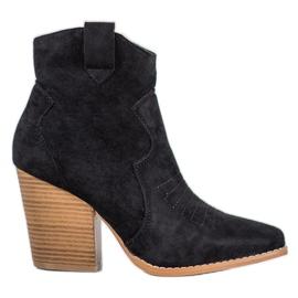 Bella Paris Kaubojske čizme na postu crna
