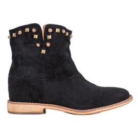 Bella Paris Kaubojske čizme sa rhinestonesima crna