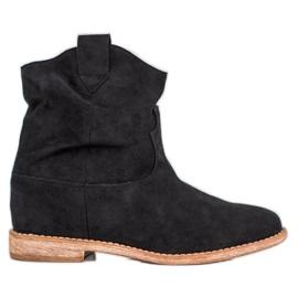Bella Paris Kaubojske čizme na klin crna