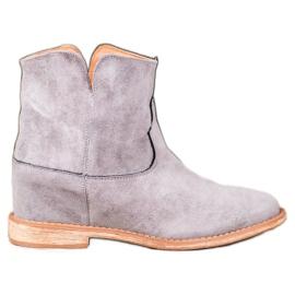 Bella Paris Suede kaubojske čizme siva