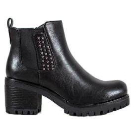 J. Star Tople čizme za gležnjeve crna