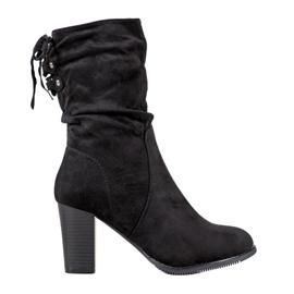 J. Star Visoke crne čizme crna