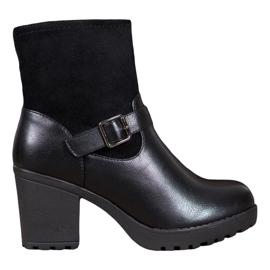 J. Star Modne čizme na platformi crna