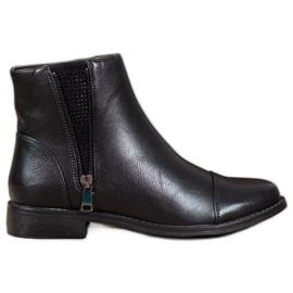 J. Star Elegantne čizme za gležnjeve s kristalima crna