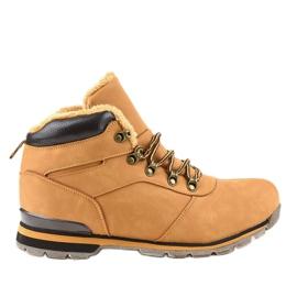 Muške planinarske cipele izolirane smeđom bojom 9185-3