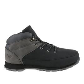 Crne izolirane muške planinarske cipele T-1918