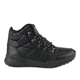 Crne čizme s izoliranom lakom F118-1 crna