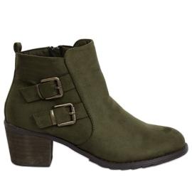 Zelene čizme na visoku petu K1809305 Khaki zelena