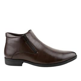 Smeđe izolirane niske cipele HL1002-3