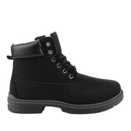 Crne čizme za snijeg izolirane C-9U5-1 crna