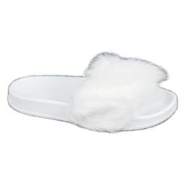 SHELOVET Gumene papuče s krznom bijela