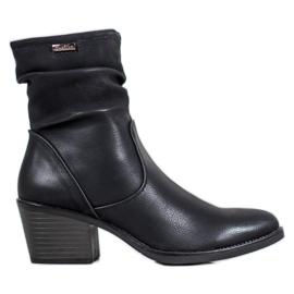 J. Star Kaubojske čizme s eko kožom crna