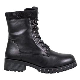 J. Star Visoke čizme s rhinestones crna