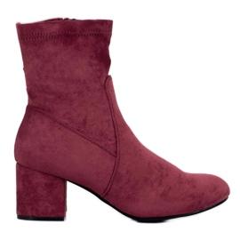 J. Star Klasične burgundske čizme crvena