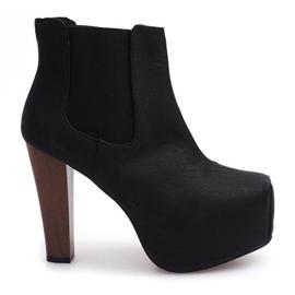 Čizme Čvrste potpetice K823 crne crna