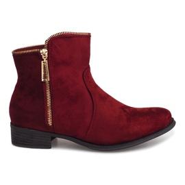 Suede čizme Jodhpur čizme 8H8586 Burgundija crvena