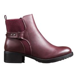 SHELOVET Udobne burgundske čizme crvena