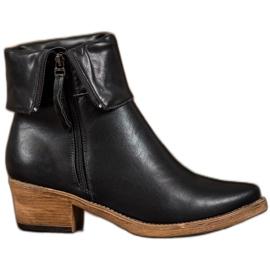 Kylie Kaubojske čizme s gornjim rolom crna
