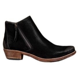 Kylie Kaubojske čizme sa patentnim zatvaračem crna
