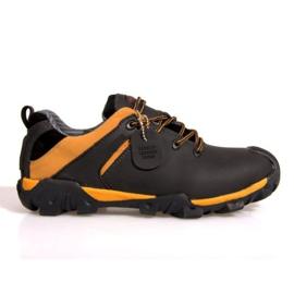 Trekking čizme Koža NAT. 6254 Crna