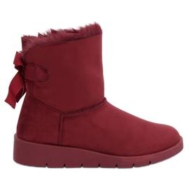Ženske čizme za snijeg bordo A-3 Wine Red crvena