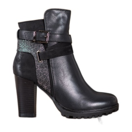SDS Modne visoke potpetice crna