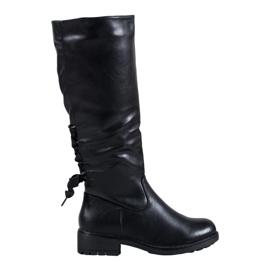 J. Star Čipkaste čizme crna