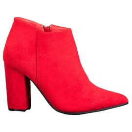 Marquiz Seksi cipele s patentnim zatvaračem crvena