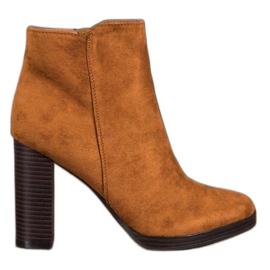 Super Me Modne cipele od antilop smeđ