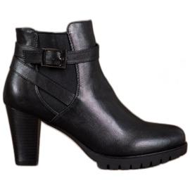 Anesia Paris Crne čizme s kopčom crna