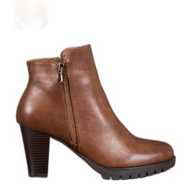 Anesia Paris Elegantne čizme za gležnjeve s eko kožom smeđ