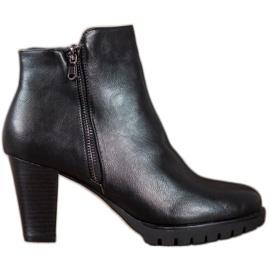Anesia Paris Elegantne čizme za gležnjeve s eko kožom crna