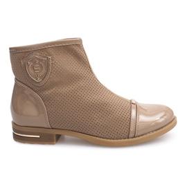 Elegantne čizme, cipele 1956 Khaki smeđ