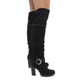 Crne čizme na postu N504 crna
