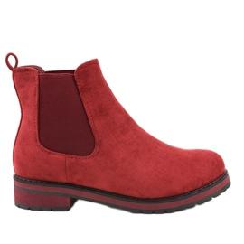 Burgundske izolirane čizme Jodhpur čizme F-3799 crvena