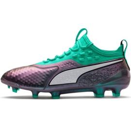 Puma One 1 Il Lth Fg Ag M 104925 01 nogometne cipele zelena