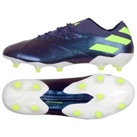 Cipele Adidas Nemeziz Messi 19.1 Fg M EG7332 ljubičasta purpurna boja