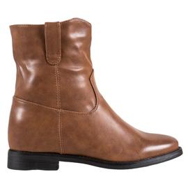 Ideal Shoes Kaubojske čizme s eko kožom smeđ