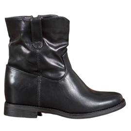Ideal Shoes Kaubojske čizme s eko kožom crna