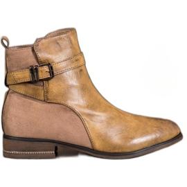 Super Mode Čizme za gležnjeve s kubičnim cirkonijem smeđ